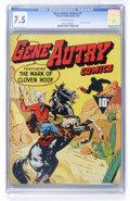 Golden Age (1938-1955):Western, Gene Autry Comics #1 (Fawcett, 1942) CGC VF- 7.5 Off-whitepages....