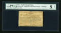 Colonial Notes:New York, New York August 25, 1774 (Water Works) 4s PMG Net Very Good 8....