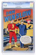 Don Winslow of the Navy #1 (Fawcett, 1943) CGC VF/NM 9.0 Off-white to white pages