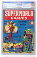Golden Age (1938-1955):Science Fiction, Superworld Comics #1 (Hugo Gernsback, 1940) CGC GD/VG 3.0 Cream to off-white pages....