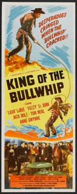 "King of the Bullwhip (Western Adventures Pictures, 1950). Insert (14"" X 36"") and Stills (18) (8"" X 10&quo..."