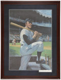 Baseball Collectibles:Others, Mickey Mantle Signed and Framed Lithograph. ...