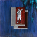 "Baseball Collectibles:Others, ""Shoeless"" Joe Jackson Original Painting...."