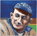 Baseball Collectibles:Others, Honus Wagner Oil Painting....