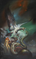 Original Comic Art:Covers, Boris Vallejo Red Sonja #5: Against the Prince of HellPaperback Cover Original Art (Ace, 1983)....