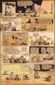 George Herriman Hand Colored Krazy Kat Sunday Comic Strip Original Art (King Features Syndicate, undated)
