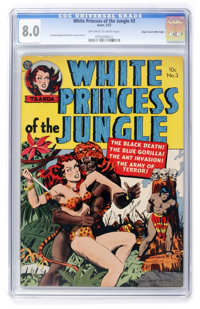White Princess of the Jungle #3 Mile High pedigree (Avon, 1952) CGC VF 8.0 Off-white to white pages