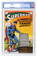 Silver Age (1956-1969):Superhero, Superman #215 (DC, 1969) CGC NM/MT 9.8 White pages....