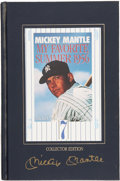 "Autographs:Others, Mickey Mantle Signed ""My Favorite Summer, 1956"" Book...."