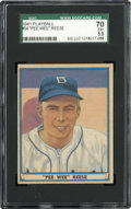 Baseball Cards:Singles (1940-1949), 1941 Play Ball Pee Wee Reese #54 SGC 70 EX+ 5.5....