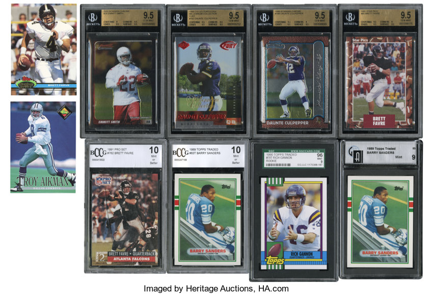 1989 2003 Football Graded Cards Collection 16 Football Cards