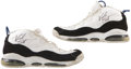 Basketball Collectibles:Uniforms, Vince Carter Signed Game Used Shoes. ...