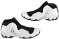 Basketball Collectibles:Uniforms, 1999-2000 Tim Duncan Signed Game Used Shoes. ...