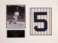 Autographs:Others, Joe DiMaggio Signed and Matted Display. ...