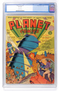 Golden Age (1938-1955):Science Fiction, Planet Comics #9 (Fiction House, 1940) CGC VF 8.0 Off-whitepages....