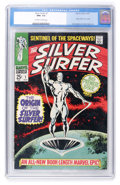 Silver Age (1956-1969):Superhero, The Silver Surfer #1 (Marvel, 1968) CGC NM+ 9.6 Off-white to white pages....