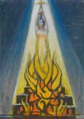 , LLOYD LOZES GOFF (American, 1918-1982). Joan of Arc. Pastel on paper. 9-1/2 x 7 inches (24.1 x 17.8 cm). Signed lower le...