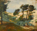 Fine Art - Painting, American:Modern  (1900 1949)  , WILLIAM HENRY HOWE (American, 1846-1929). Dunes and ScrubPine, 1901. Oil on panel. 12-1/2 x 16 inches (31.8 x 40.6cm)...