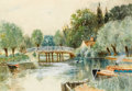 Works on Paper, GEORGE HENRY SMILLIE (American, 1840-1921). Unionville, Connecticut, 1892. Watercolor on paper. 10 x 14 inches (25.4 x 3...