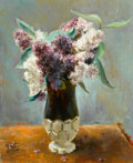 Fine Art - Painting, American:Modern  (1900 1949)  , EUGENE EDWARD SPEICHER (American, 1883-1962). Vase ofLilies. Oil on canvas. 20-1/4 x 16 inches (51.4 x 40.6 cm).Initia...