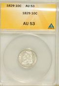 Bust Dimes: , 1829 10C Small 10C AU53 ANACS. NGC Census: (2/203). PCGS Population(11/146). Mintage: 770,000. Numismedia Wsl. Price for N...