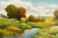 Fine Art - Painting, American:Contemporary   (1950 to present)  , WARD SHADOMY (American, 20th Century). Autumnal Landscape.Oil on canvas. 24 x 36 inches (61.0 x 91.4 cm). Signed lower ...