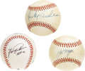Autographs:Baseballs, Hall of Famers Single Signed Baseballs Lot of 3. Trio of Hall ofFame talent is represented here with this collection of or...