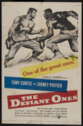 """Movie Posters:Drama, The Defiant Ones (United Artists, 1958). One Sheet (27"""" X 41"""").Drama. Starring Tony Curtis, Sidney Poitier, Theodore Bikel,..."""