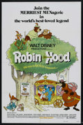 "Movie Posters:Animated, Robin Hood (Buena Vista, 1973). One Sheet (27"" X 41"") Style B. Animated. Starring Brian Bedford, Phil Harris, Peter Ustinov,..."