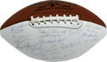 Football Collectibles:Balls, 1958 LSU National Champions Team Signed Football. Led by their coach Paul Dietzel and his unique 3-team platoon system, the...