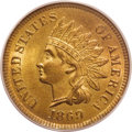 Indian Cents: , 1869 1C MS65 Red PCGS. FS-8.3, Snow-3c. The 69 in the date is repunched south. Once believed to be an 1869/8, and actually ...