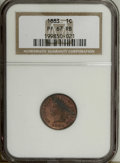 Proof Indian Cents: , 1883 1C PR67 Red and Brown NGC. Copper-gold surfaces display splashes of crimson on the obverse, and are immaculately prese...