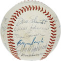 Autographs:Baseballs, 1982 Texas Rangers Team Signed Baseball. Twenty-two signatures onan OAL (MacPhail) ball we offer here comes from the 1982 ...