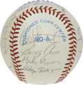 Autographs:Baseballs, 1984 Texas Rangers Team Signed Baseball. Twenty members of the 1984Texas Rangers have checked in on the offered OAL (Brown...