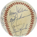 Autographs:Baseballs, 1982 California Angels Team Signed Baseball. The AL West winnersfrom 1982 are represented here with this fine OAL (MacPhai...
