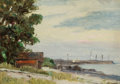 Fine Art - Painting, American:Modern  (1900 1949)  , HOWARD RUSSELL BUTLER (American, 1856-1934). Quiet Cover.Oil on board. 5 x 7 inches (12.7 x 17.8 cm). Signed lower left...
