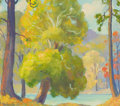 Fine Art - Painting, American:Modern  (1900 1949)  , FRANK BERNARD NUDERSCHER (American, 1880-1959). Arcadia. Oilon board. 7 x 8 inches (17.8 x 20.3 cm). Signed lower right...