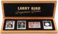 Basketball Collectibles:Others, 1998 Larry Bird Upper Deck Signature Series Boxed Set. ...