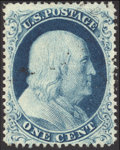 Stamps, 1c Blue, Type llla (22),...