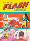 Original Comic Art:Covers, Sheldon Moldoff Flash Comics #1 Cover Recreation OriginalArt (1994)....
