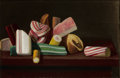 American:Still Life, The Hon. Paul H. Buchanan, Jr. Collection. JOHN FREDERICK PETO(American, 1854-1907). Hard Candy. Oil on academy board...
