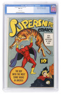 Golden Age (1938-1955):Superhero, Supersnipe Comics V2#5 Mile High pedigree (Street & Smith, 1944) CGC NM 9.4 Off-white pages....