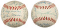 Autographs:Baseballs, 1957 and 1958 Toronto Maple Leafs International League Team SignedBaseballs from Dixie Walker. ... (Total: 2 items)