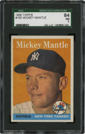 Baseball Cards:Singles (1950-1959), 1958 Topps Mickey Mantle #150 SGC 84 NM 7....