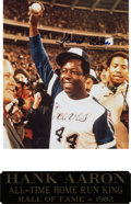 Autographs:Photos, Hank Aaron Signed And Matted Photograph. ...