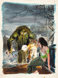 Original Comic Art:Covers, Neal Adams Monsters Unleashed #3 Man-Thing Cover OriginalArt (Marvel, 1973)....
