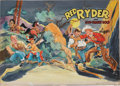 Original Comic Art:Covers, Red Ryder and Gun-Smoke Gold Book Cover Original Art(Whitman, 1954)....
