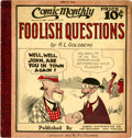 Platinum Age (1897-1937):Miscellaneous, Comic Monthly #10 Foolish Questions (Embee Dist. Co., 1922)Condition: VG/FN....