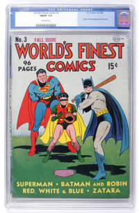 World's Finest Comics #3 (DC, 1941) CGC FN/VF 7.0 Off-white pages