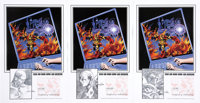 Gene Colan Signed 2008 San Diego Comicon Exclusive Print Group of 3 (2008)